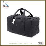 Zaino di campeggio del sacchetto di corsa di sport della tela di canapa impermeabile nera su ordinazione