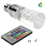 LED Changement de couleur E27 E14 GU10 B22 3W RGB LED Lights AC 85-265V 16 couleurs Change Crystal LED Ampoules Light avec 24 touches Télécommande