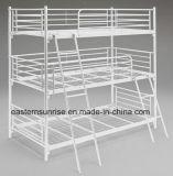 Bâtis de couchette de triple en métal de dortoir pour des élèves d'adulte d'école