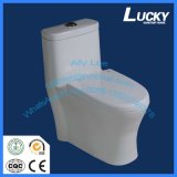 MID East 4 Inch Outlet Sanitary Ware Porcelaine One Piece Siphonic Wc Toilette