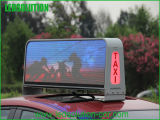 Visualización de LED de la tapa del taxi P5 para hacer publicidad
