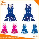 女の子のためのHealongのスポーツ・ウェアのデジタル印刷のチアリーディングのユニフォーム