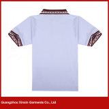 Le collier court en gros de combinaison de couleur de chemise conçoivent les chemises en fonction du client de polo du golf des femmes (P168)