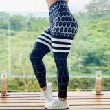 Impresso distribuído a absorção de umidade calças de ioga Perneiras Sexy fêmea do quadril Perneiras Sports cintura elevada calças de ioga