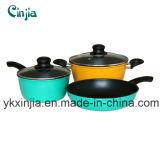 Кухонных 5PCS поддельных углеродистой стали Non-Stick посуда для приготовления пищи,