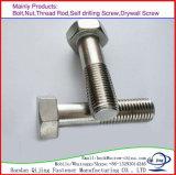 Boulon DIN933/931 de tête Hex de carbone galvanisé/acier inoxydable