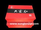 Caneca vitrificada vermelha de China de osso com a caixa de presente de GB004