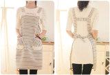 Rayas Cocina mujeres delantal para cocinar con los bolsillos