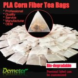 De Piramide van de Theezakjes van Trangle van de Filter van de Vezel van het Graan van de Stof PLA Leeg met Koord en Markering