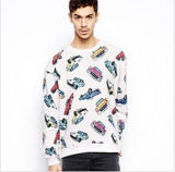 Fleece 테리 (F099)의 주문 Cotton Printed Sweatshirt