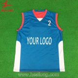 Desgaste personalizado do esporte da camisa do basquetebol do Sublimation de Jersey