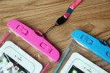 Zak de van uitstekende kwaliteit van de Telefoon van pvc met Noctilucent voor het Nemen van Video's onder Water Gediplomeerd door SGS