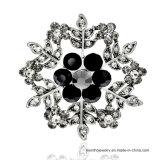 새로운 간단한 형식 보석 합금 눈송이 모양 모조 다이아몬드 브로치 3colors