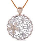 完全なダイヤモンドの金の宝石類925の銀製のマイクロ設定のペンダントの宝石類