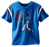 100% coton. Lavable en machine équipage encolure côtelée manches courtes Sport enfants T-shirt d'usure de l'habillement