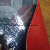 De kleurrijke Bevloering van pvc van Ontwerpen Rood Gevoelde/Pisos Engelse Rollo/het Plastic Broodje van de Bevloering