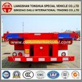3 Fuwaの車軸40FT容器の赤い骨組み半トレーラー