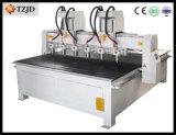 機械を切り分けるマルチヘッド木3D CNCのルーターCNC