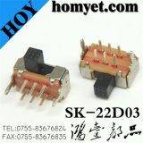 Micro interruttore di TUFFO/interruttore con l'intelaiatura del metallo (SK-22D03)