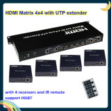 4k HDMI Matrix Extender 4X4 con 4 Receivers a 100m, Support Hdcp ed IR Call Back