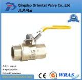 1/4, 3/8, 1/2 NPT pneumatisches preiswertes Messingkugelventil für Wasser-Luft-Öl und Gas