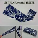 Compressão de desporto Anti-Static Camo Digital da luva do braço