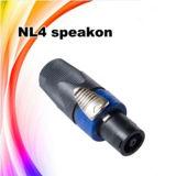 Connecteur femelle professionnel de câble de câblage de l'acoustique Nl4 Speakon