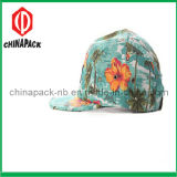 Colorful Floral 5 Panel Flat Brim Caps (CPA-14-1195)