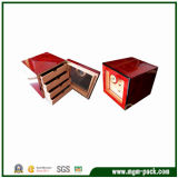 Деревянные Глянцевая дисплей сигарный шкаф с выдвижными ящиками
