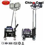 Fabricante de la calidad de torre de iluminación portable del LED con el generador