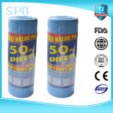 Spunlace Nonwoven Roll Disposable Cleaning Wipe per Kitchen 40GSM