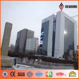 El panel compuesto de aluminio al aire libre de la decoración PVDF de la pared de la batería de Mongolia (AF-408)
