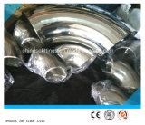 Cotovelo sanitário Polished dos encaixes do aço inoxidável de 90deg LR