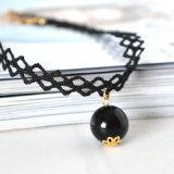 Handmade чокеровщик Tattoo с черным ожерельем шкентеля перлы