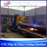 Cortadora del plasma del tubo y de la placa del pórtico del CNC