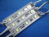공장 SMD 5050 3LED 모듈 방수 LED 모듈 높은 Lm DC12V/24V