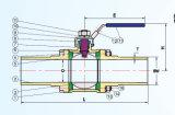 valvola a sfera 3PC con tipo lungo estremità Butt-Weld