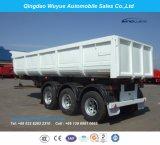 3개의 차축 U 모양 덤프 팁 주는 사람 세미트레일러 또는 반 경사 트럭 트레일러