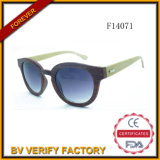 F14071 Good Quality Cat Eye Women Sunglasses mit Bamboo Arms