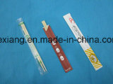 Zoll druckte Plastik eingewickelte Großhandelsbesteck-Bambus-Ess-Stäbchen