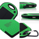 Customized Logo 5000mAh Waterproof Solar Portable Power Bank Charger