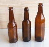 卸し売りこはく色のガラスビール瓶