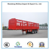 家畜の輸送のための半三車軸棒の塀のトレーラー