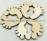 Botões de madeira cor natural/ícones para álbuns & DIY Artesanato