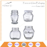 Tarros de cristal del alimento dimensiones de una variable calientes de la venta de las varias con el casquillo