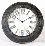 Lamentando Negro cara de reloj de pared de metal decoración del arte