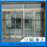Un gran salto térmico de puerta corrediza de aluminio Doble Vidrio templado