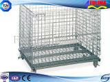 Gaiola de aço galvanizada do engranzamento para o canteiro do armazém/obras (FLM-K-007)