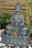 훈장 Polyresin Buddha 옥외 큰 정원 분수 W/LED 빛