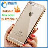 호화스러운 도금 iPhone 7/7plus/Note 7을%s 풍부한 투명한 연약한 자동차 TPU 전화 상자